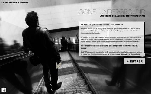 Page d'accueil du site de François Sola - Expo Gone underground